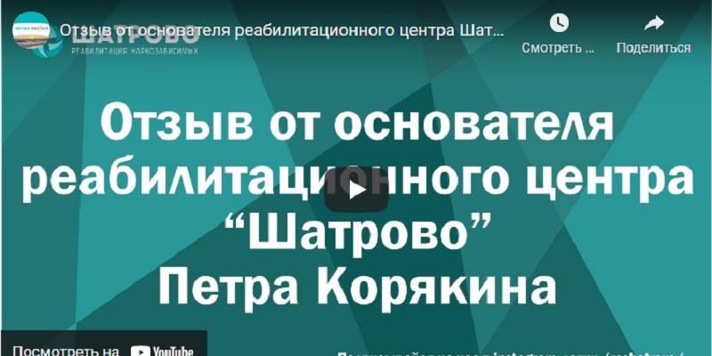 Отзыв от основателя реабилитационного центра Петра Корякина